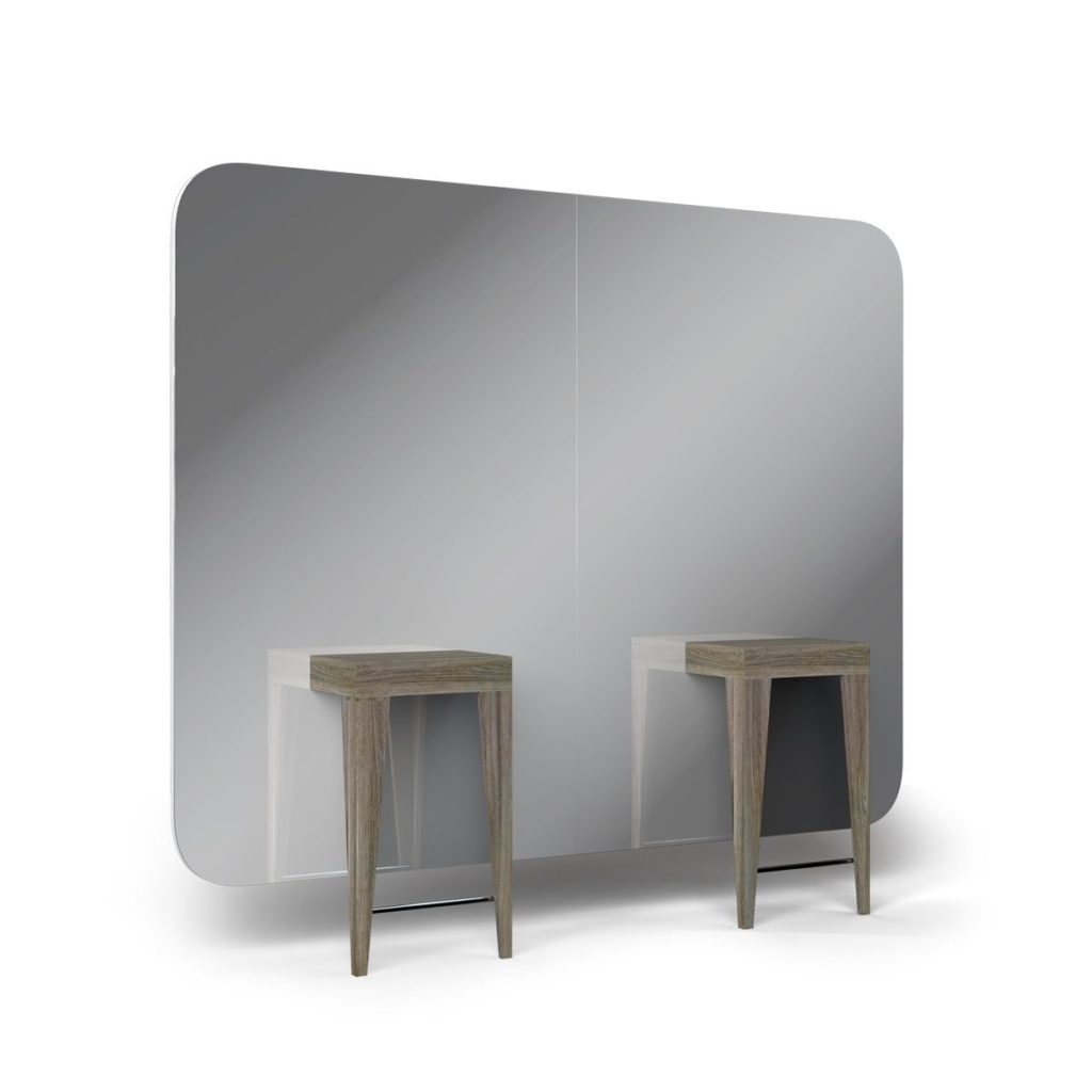 Großer Friseur-Doppelspiegel