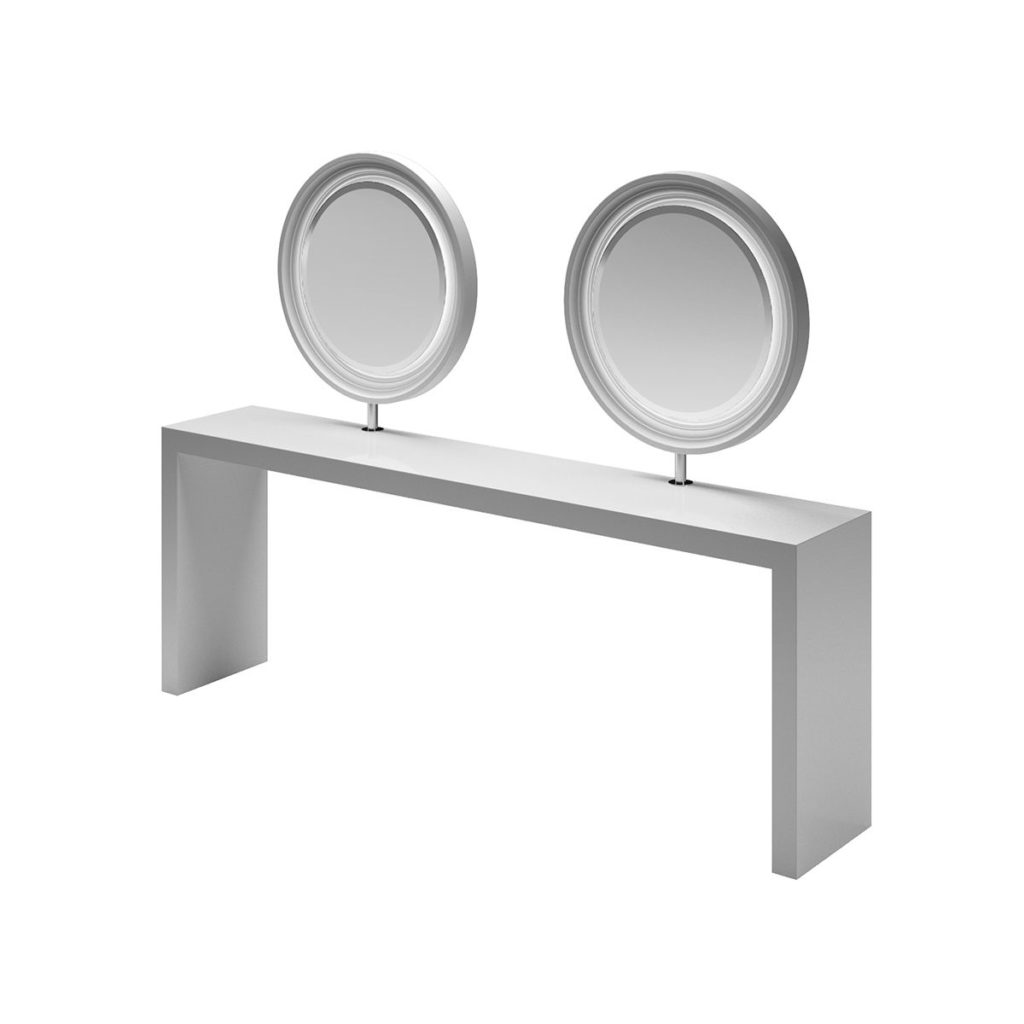 2er Bedientisch runde Spiegel