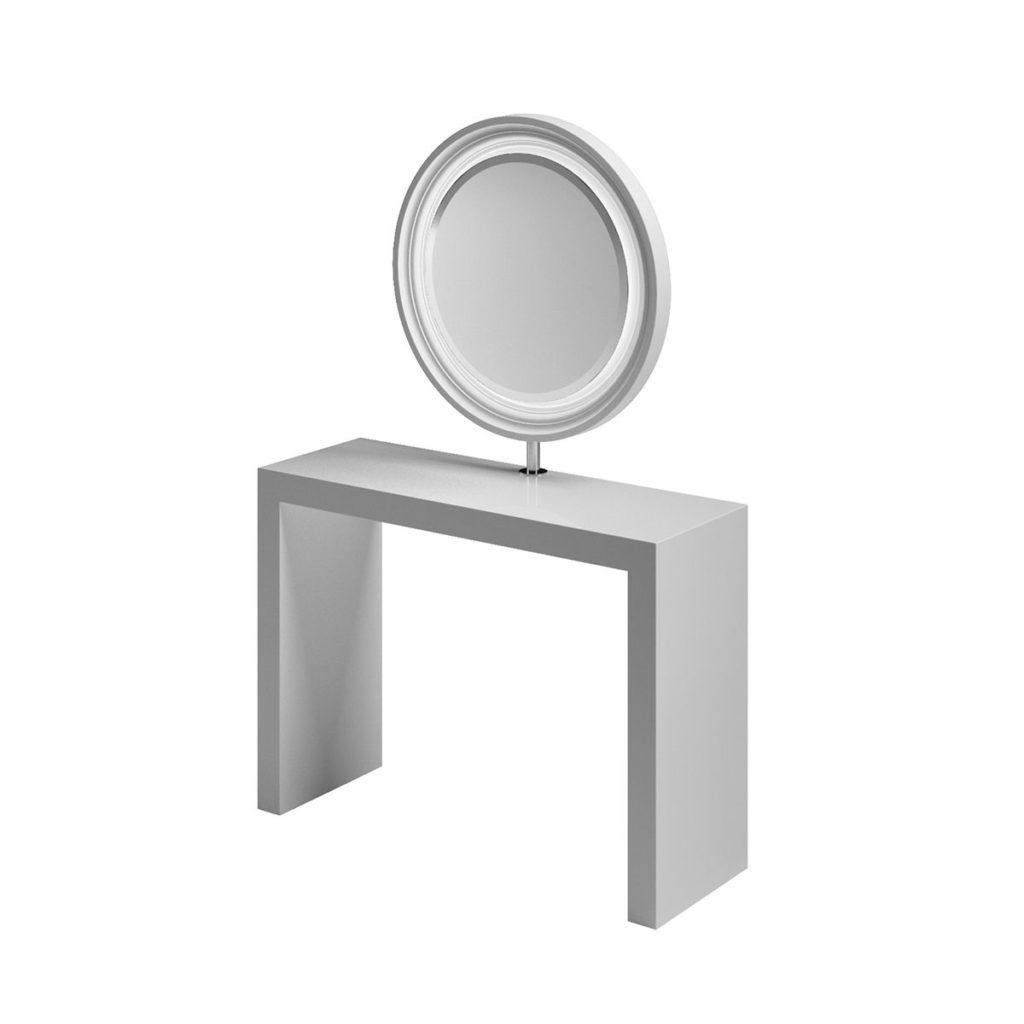 Makeup-Platz runder Spiegel
